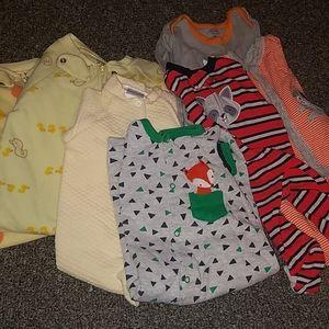 7 piece newborn boys pajamas